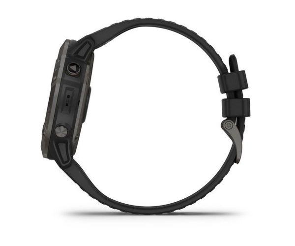 Garmin Fenix 6X Pro Solar Titanium Carbon Grey DLC with Black Band