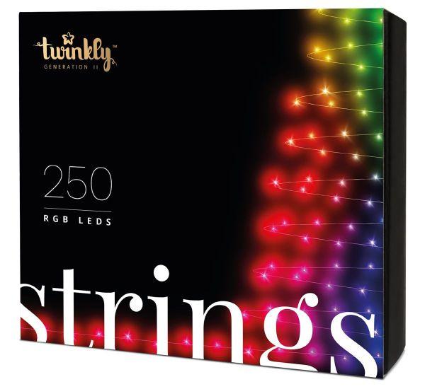 Twinkly Smart LED Strings RGB 250 BT+WiFi Gen II IP44 кабель черный (TWS250STP-BEU)