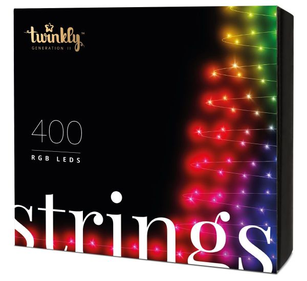 Twinkly Smart LED Strings RGB 400 BT+WiFi Gen II IP44 кабель черный (TWS400STP-BEU)