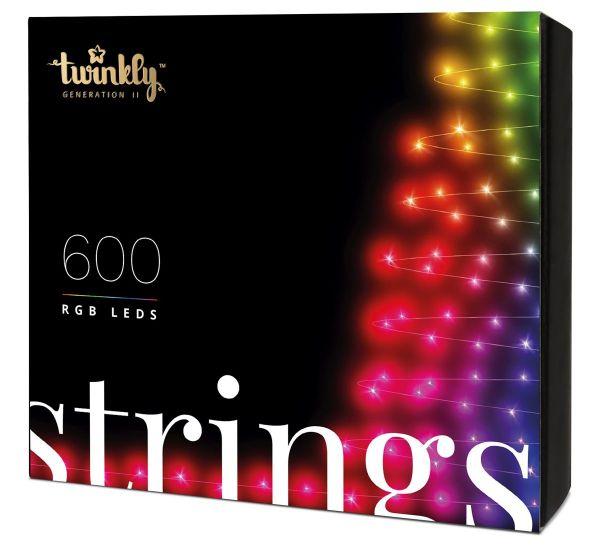 Twinkly Smart LED Strings RGB 600 BT+WiFi Gen II IP44 кабель черный (TWS600STP-BEU)